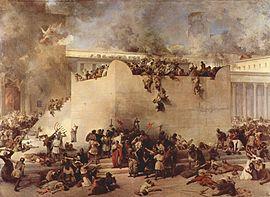 نقاشی موجود از تخریب هیکل سلیمان