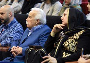 جلال الدین معیریان و همسرش