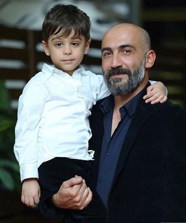 عکس هادی حجازی فر و پسرش هامون