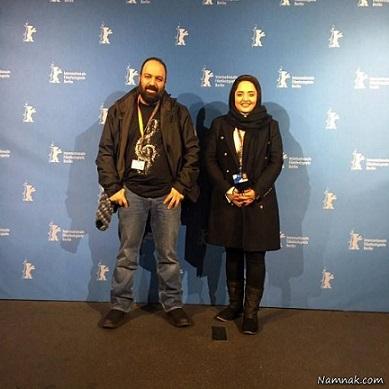علی اوجی در کنار همسرش نرگس محمدی