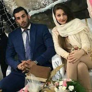رضا قرا و همسرش
