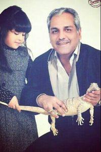 عکس دختر مهران مدیری (کودکی شهرزاد مدیری)