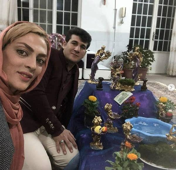 عکس شهربانو منصوریان و همسرش