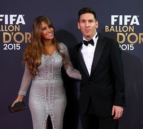 مسی و همسرش آنتونلا روکازو