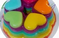 طرز تهیه ژله رنگین کمان + ژله بستنی رنگین کمان
