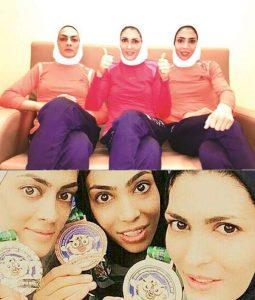 عکس شهربانو منصوریان و خواهرانش الهه و سهیلا