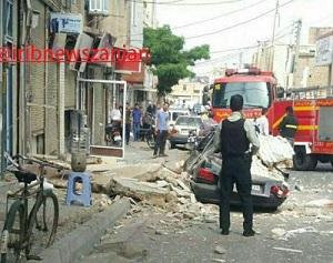 انفجار گاز در زنجان (خیابان ضیائی زنجان)