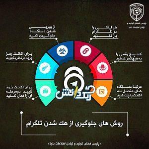 جلوگیری از هک شدن تگرام