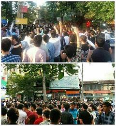 خیابان اصلی شهر پارس آباد و خشم مردم