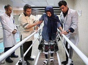 سارا عبدالملکی در حال درمان