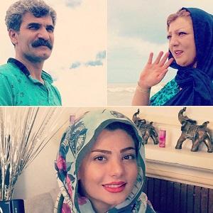 سارا عبدالملکی و پدر مادرش