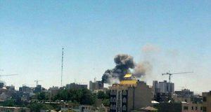 عکس آتش سوزی هتل مشهد