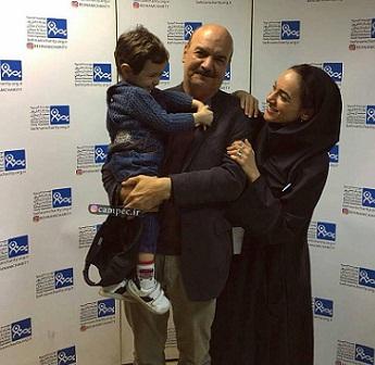 عکس ایرج طهماسب در کنار دختر و نوه اش