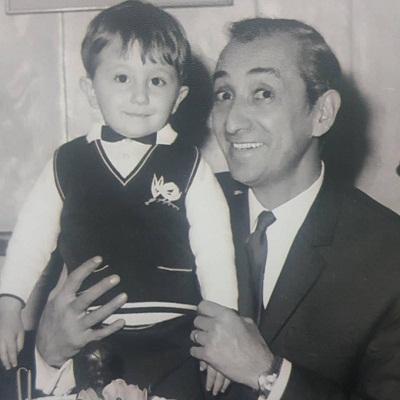 عکس داریوش اسدزاده و پسرش