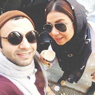 عکس صابر ابر و خواهرش