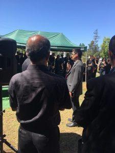 عکس مراسم خاکسپاری مریم میرزاخانی
