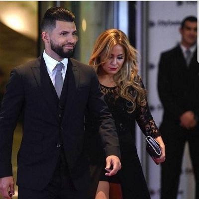 سرخیو آگوئرا و همسرش در مراسم ازدواج مسی