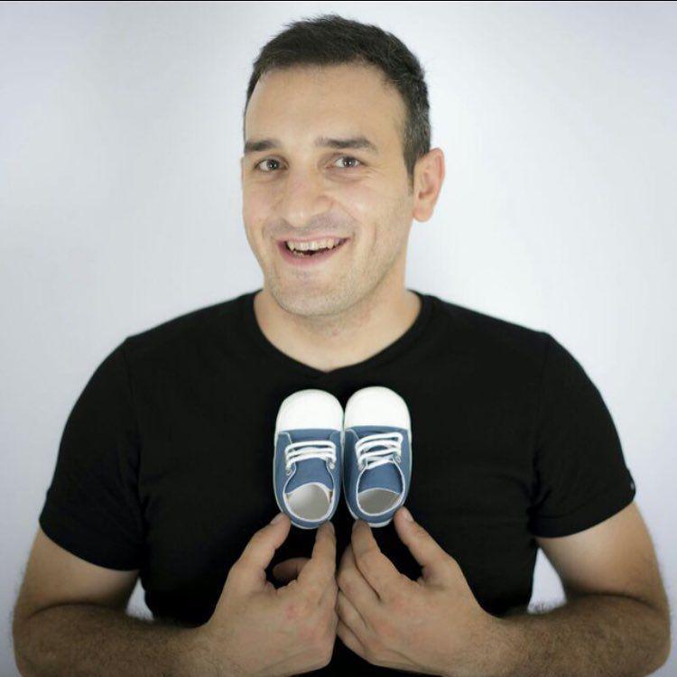 عکس میثم درویشان پور با کفشهای پندار