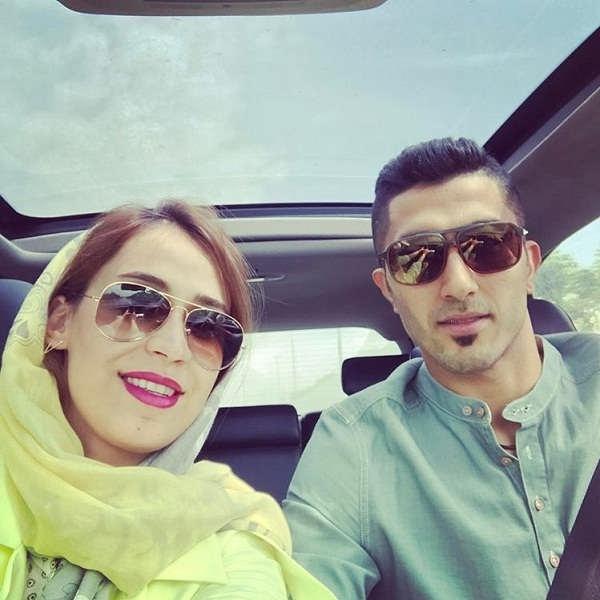 عکس نیلوفر ابراهیمی و همسرش مجتبی میرزاجانپور
