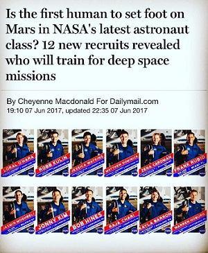 عکس ۱۲ فضانورد انتخاب شده برای ناسا