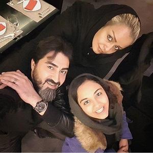 محمدرضا علیمردانی و همسرش و دخترش سارا