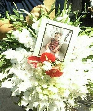 مراسم خاکسپاری بنیتا (دختربچه ۸ ماهه) + عکس