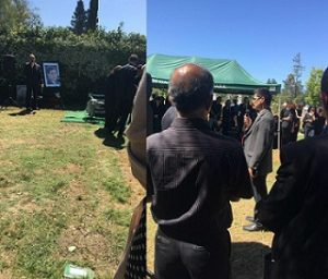مراسم خاکسپاری مریم میرزاخانی در کالیفرنیا