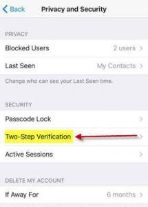 جلوگیری از هک شدن تلگرام - مرحله 2