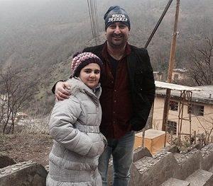 عکس مهران احمدی و دخترش باران
