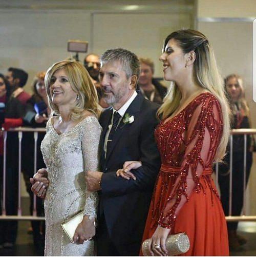 عکس پدر و مادر مسی در مراسم ازدواج مسی
