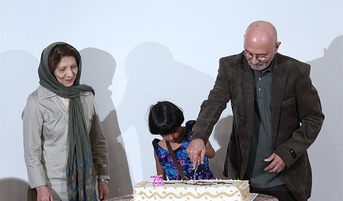 پرویز پورحسینی و همسرش