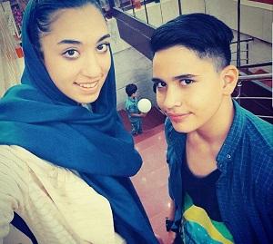 عکس کیمیا علیزاده و برادرش