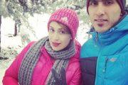 مجتبی میرزاجانپور و همسرش + عکس