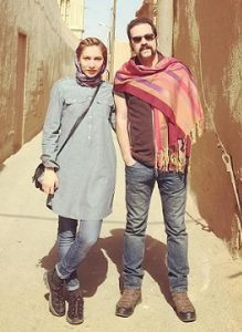 امید نعمتی و همسرش شقایق صادقیان