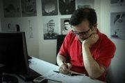 بیوگرافی جمال رحمتی (کاریکاتوریست) + عکس همسر و پسرانش