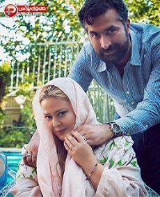 عکسی از بهاره رهنما و همسرش بعد از مراسم ازدواجشان