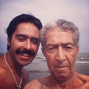 عکس امین اصلانی و پدرش