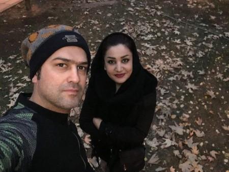 عکس حامد آهنگی و همسرش