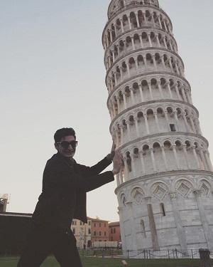 عکس دانیال غفارزاده در ایتالیا