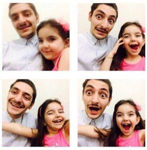 عکس دانیال غفارزاده و خواهرزاده اش یسرا