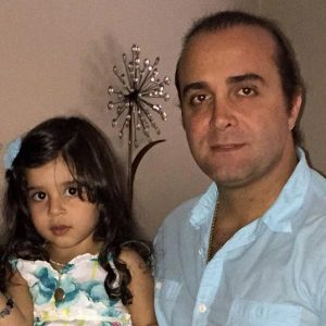 عکس سینا سرلک و دخترش ساغر