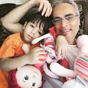 عکس قربان نجفی و پسرش مانی
