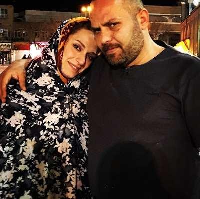 عکس نگین معتضدی و همسرش