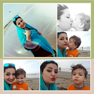 عکس همسر حامد گینس و پسرش آراد
