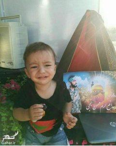 عکس پسر ۲ ساله شهید حججی (علی حججی)