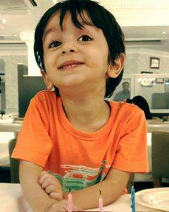 مانی پسر قربان نجفی در تولد ۳ سالگی