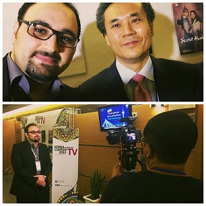 مصاحبه تلویزیون کره جنوبی با مجید افشاری