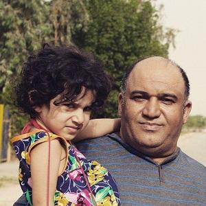 عکس نادر سلیمانی و دخترش بارسین