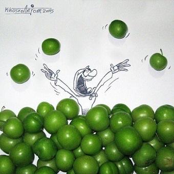 اینستاگرام و کانال تلگرام مجید خسروانجم (کاریکاتوریست)