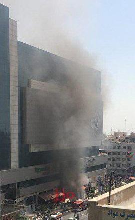 آتش سوزی پاساژ کوروش (بزرگراه ستاری تهران)